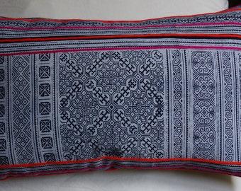 Hmong series 7: cushion, 30x50cm (12 x 20), cotton, batik Hmong.