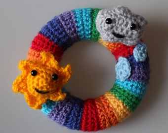 Bright Rainbow Mini Wreath