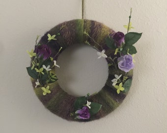 1 Year around colorful Wreath with beautiful flowers
