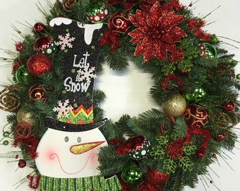 Let It Snow! Snowman Wreath