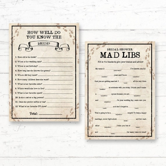 Harry Potter Bridal Shower Games Pack   2 Games   About The Bride U0026 Bridal  Mad Libs   Instant Download