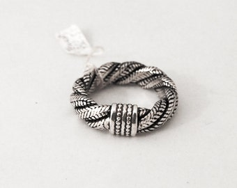 925 silver ring twisted snake link
