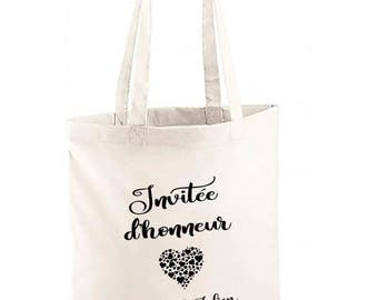 """Tote Bag """"guest of honor"""" bag for witnesses, family members, friends of marriage or a where"""