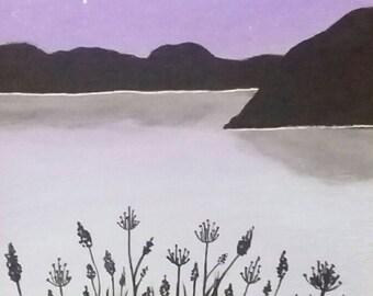 Wild flower silhouette print