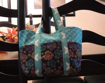 Neon Flowers Tote Bag