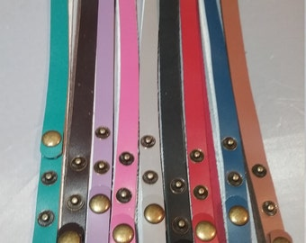 "Leather Wrap Bracelet Blanks Adjustable 24"" 9 colors"