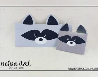 About raccoon, silhouette studio, cameo, raccoon envelope