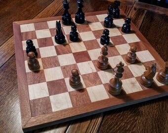 Chessboard - mahogany and cherry