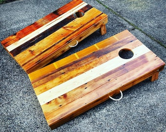 Cornhole Set Reclaimed Wood / Salvaged Wood