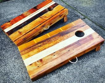 Cornhole Set Reclaimed Wood