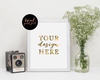 Custom Print, Custom Designed, Real Gold Foil Print