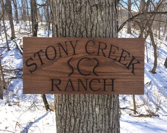 Business Sign, Ranch Sign, Personalized Sign, Farm Sign, Cattle Sign, Wood Sign, Housewarming Gift, Custom Office Sign, Custom Wooden Sign