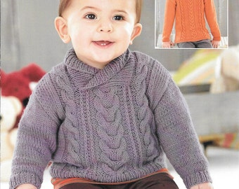 Knitting pattern Sirdar snuggly D.K. 4584 birth to 7 years