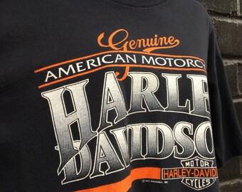 Genuine American Harley Davidson Tee 1991