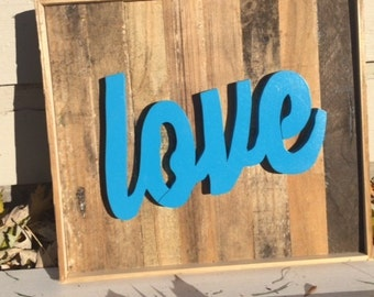 Handcrafted Love Sign