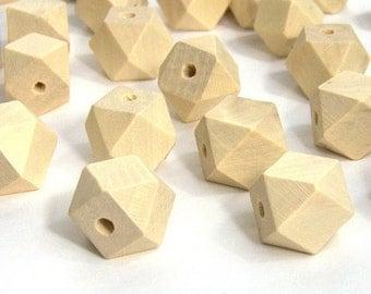 Set of 10 beads polygonal blank - geometric beads - 12mm