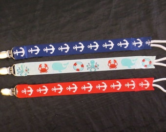 3 Boy Pacifier Holders and toy holders also!