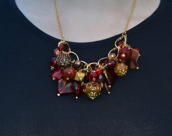 Red and Gold Celebration Necklace