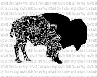 Buffalo SVG, Bison SVG, American Bison svg, Paisley svg, Paisley Buffalo svg, Buffalo graphic, Bison Graphic, Paisley graphic