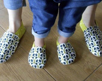 Adult Shoes Pattern - PDF Sewing Pattern and tutorial, Women's Size US 1-11; Euro 32-45; Men's Size US 1-12; Euro 39-45;