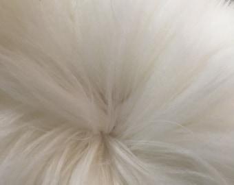 Prime White English Angora Fiber