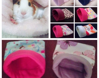 Snuggle sacks for Guinea pigs and small furries single or double