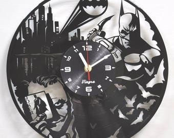 BATMAN VS JOKER vinyl record wall clock wall decor Batman vs Joker  wall decor Batman vs Joker  poster Batman gift Vinyl batman clock Batman