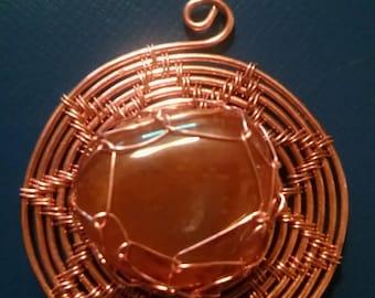 Agate Sun Pendant