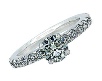 Platinum GIA 1.01 ct Diamond Engagement Ring