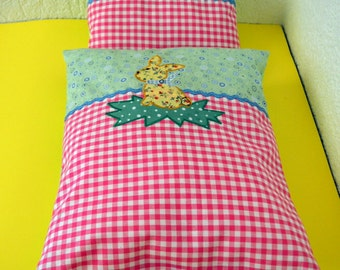 Doll bed, bedclothes, doll