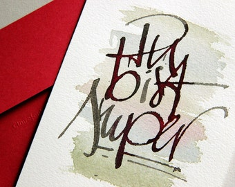 hand described greeting card