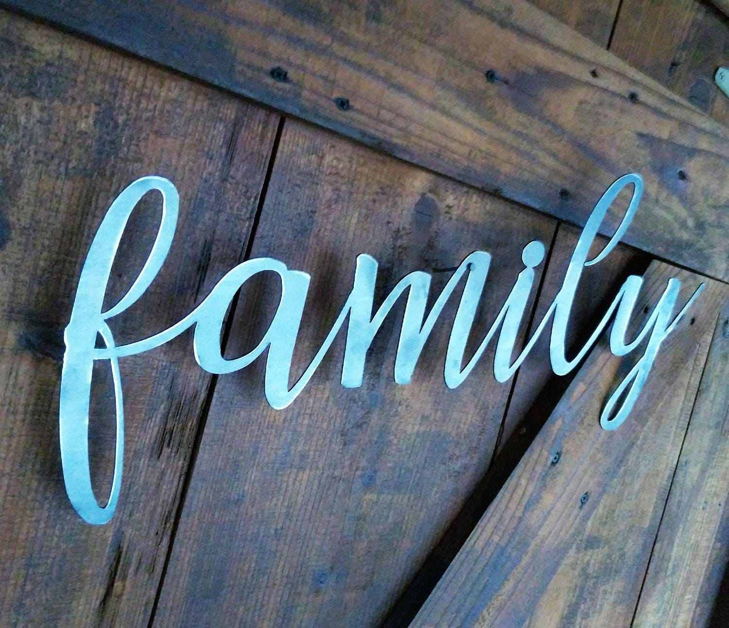 Metal family sign the word family family sign metal words metal gallery photo gallery photo gallery photo amipublicfo Gallery