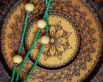 Boho Wooden Plate Hangable