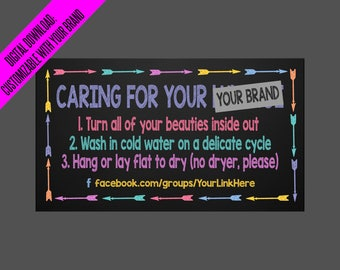 LLR Customized Washer Magnet Digital Download | JPEG only | Personalized magnets customers | Laundering Care Card, How to Wash, Do Not Dry