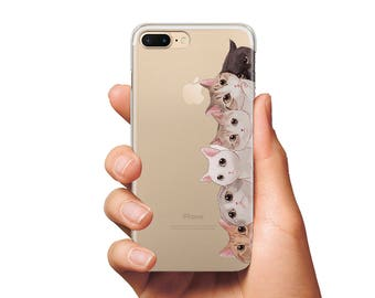 Cats cute case cover for phone iPhones and Samsung cover iPhone 6s Plus cover cute cover iPhone 5c cover iPhone 7 Plus cover clear cover