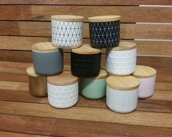 Wooden lid canisters