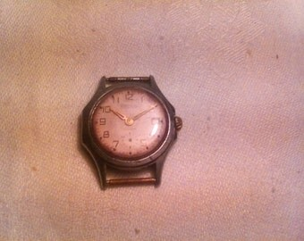 Vintage Soviet Mechanical wrist Watch VOSTOK 15j Old Style small wrist watch USSR era 1970s collectible watch