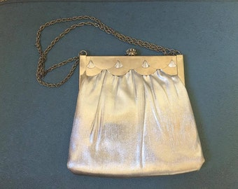 Silver ML Vintage Purse with coin purse