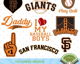 San Francisco Giants SVG files, baseball designs contains dxf, eps, svg, jpg, png and pdf files. PB-018