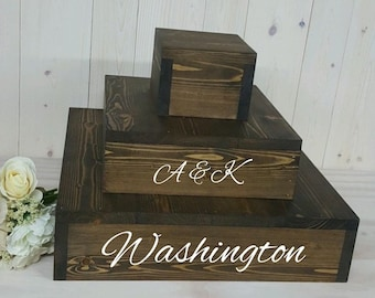 Rustic Wood Cake Stand, Rustic Cupcake Stand, 3 Tier Cupcake Stand, 3 Tier Cake Stand, Country Wedding, Wood Cake Stand, Wedding, Customized