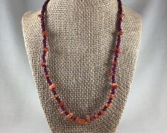 Carnelian & Bead Necklace