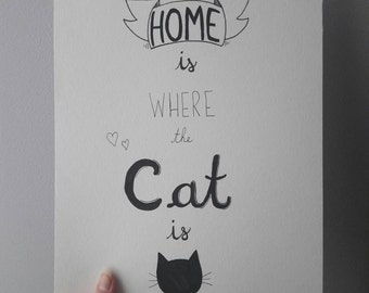 Home is where the cat is - print