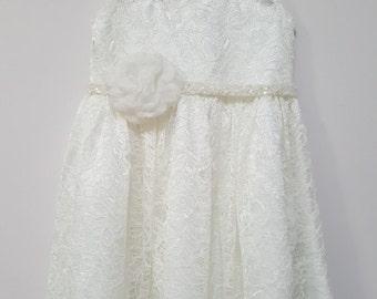 Mona Flowergirl dress, ivory flowergirl dress, flower girl dresses, bridesmaids dress, christening dress,