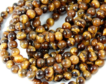 "Two 15"" strands Tigereye Beads 6mm"