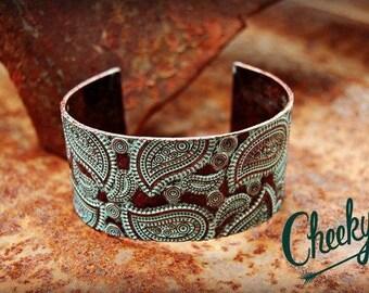 Paisley Patina Cuff Bracelet