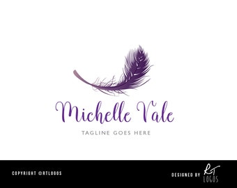 Pre-made feather logo for customisation