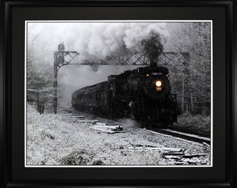 Steam Engine Photo 24x30 Inch Archival Print Steamtown National Park Canadian National 3254