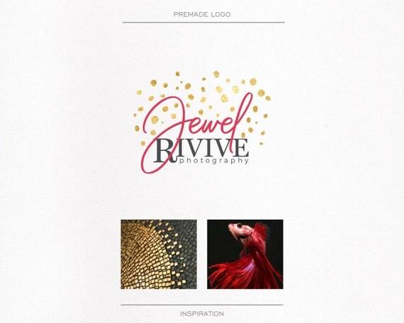Gold Foil Photography, Wedding Photographer, Signature Logo, Watermark, Boutique Event, Logo Luxury, Logo Elegant Logo, Blog Logo,  Magneta