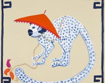 Monkey in Hat-Left Facing- by Paige Gemmel