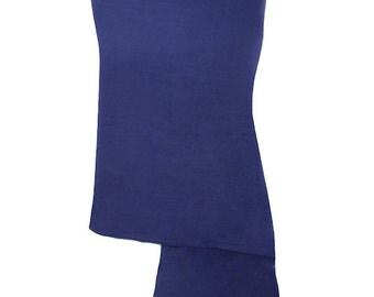 Handmade 100% Pure Cashmere Navy Blue Pashmina Shawl Wrap Scarf - Pashminas and Wraps